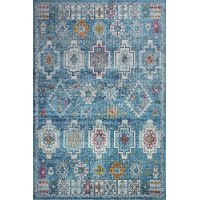 Transitional Blue 8 Foot Runner Rug - Charleston
