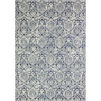 3 x 8 Runner Contemporary Dark Blue Rug - Everek