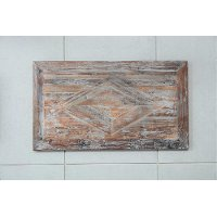 Winton Antique Gray 40 Inch Wooden Wall Art - Brixton
