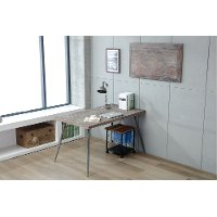 Antique Gray Wood Writing Desk and Dining Table - Brixton