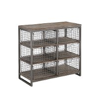 Modern Industrial Gray Wire  Basket Chest - Barnside