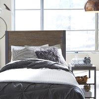 Modern Industrial Driftwood King Headboard - Barnside