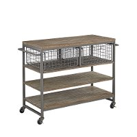 Gray Industrial Kitchen Cart - Barnside Metro
