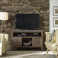 Weathered Brown Indoor-Outdoor TV Stand - Concrete Chic