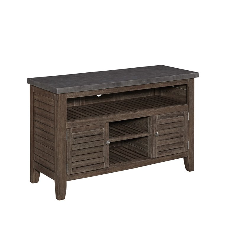 Weathered Brown Indoor Outdoor Tv Stand Concrete Chic Rc Willey Furniture