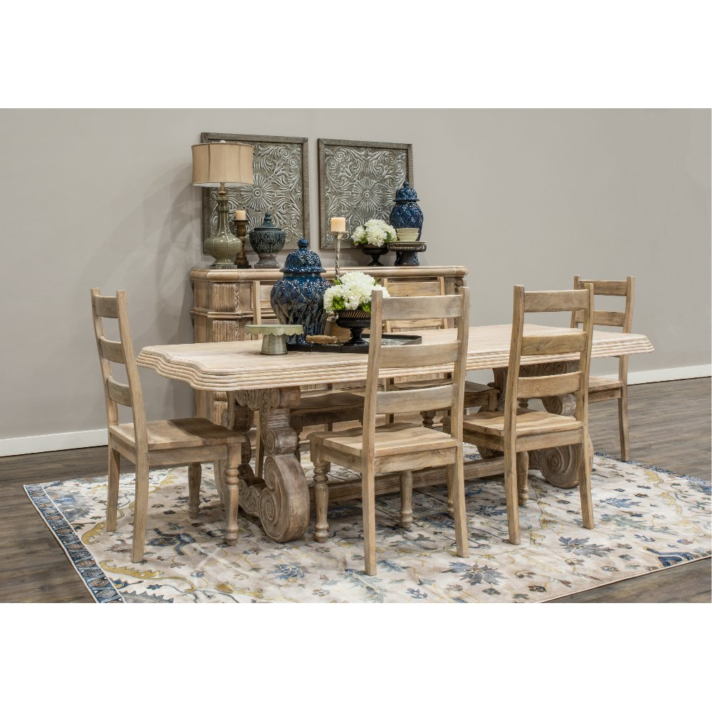 Whitewashed Natural Wood Rustic Dining Table Karsten RC Willey - Natural whitewash dining table