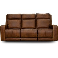 Rustic Brown Leather Power Reclining Sofa - Archer   RC Willey ...