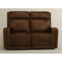 Outstanding Rustic Brown Leather Power Reclining Loveseat Archer Andrewgaddart Wooden Chair Designs For Living Room Andrewgaddartcom