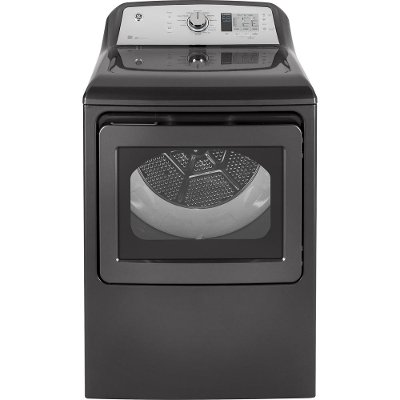 GTD65EBPLDG GE Electric Dryer with Extended Tumble - 7.4 cu. ft. Diamond Gray