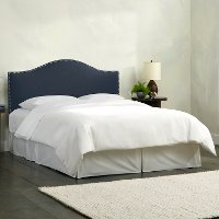 911NB-PWLNNNV Navy Nailhead Trim Full Size Upholstered Headboard