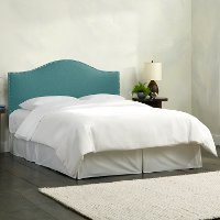 912NB-PWLNNLGN Turquoise Nailhead Trim Queen Upholstered Headboard