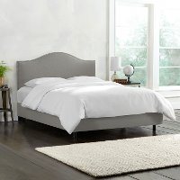 913NBBED-PWLNNGR Gray Nailhead Trim King SIze Upholstered Bed