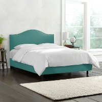 911NBBED-PWLNNLGN Turquoise Nailhead Trim Upholstered Full Size Bed