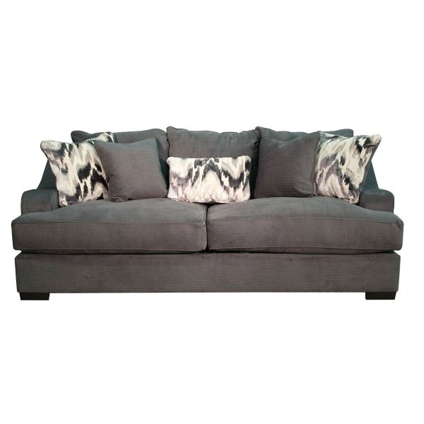Casual Modern Charcoal Gray Sofa Bed Spartan