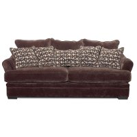 Casual Contemporary Chocolate Brown Sofa Bed - Acropolis