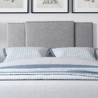 Gray Expandable Full Size, Queen, King Size Headboard