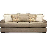 Casual Traditional Taupe Sofa Bed - Bereta