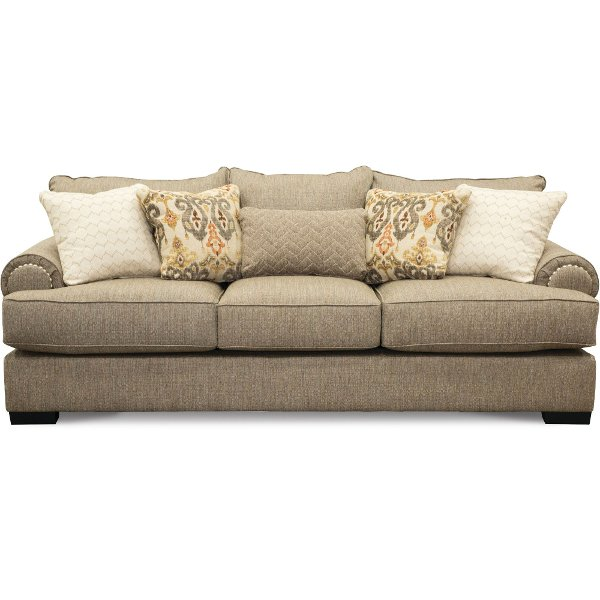 Casual Traditional Taupe Sofa Bed Bereta