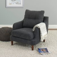 Navy Blue Contemporary Accent Chair - Victoria