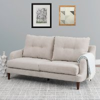 Beige Contemporary Sofa - Victoria