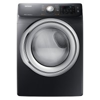 DVE45N5300V Samsung Electric Dryer with Steam - 7.5 cu. ft. Black Stainless Steel