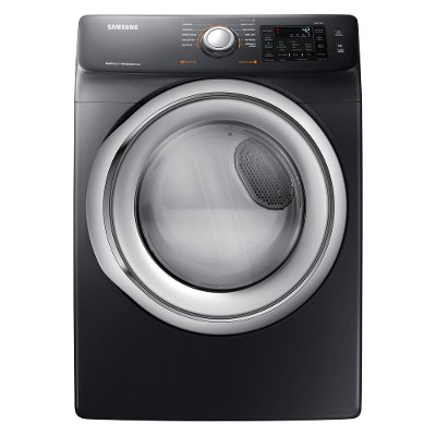 DVE45N5300V Samsung Electric Dryer with Steam Options - 7.5 cu. ft. Black Stainless Steel