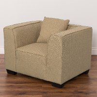 Beige Contemporary Accent Chair - Lida