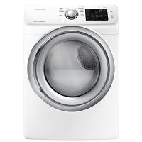 DVE45N5300W Samsung 7.5 cu. ft. Front Load Electric Dryer with Steam - White