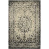 8 x 11 Large Ivory and Gray Area Rug - Richmond