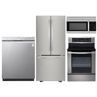 KIT LG 4 Piece Kitchen Appliance Package with Electric Range - Stainless Steel  6.3 cubic feet