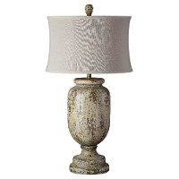 Beige, Green and Brown Table Lamp - Grace