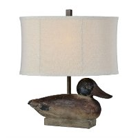 Vintage Duck Table Lamp - Drake