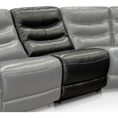 Black Power Armless Recliner with Adjustable Headrest - Shawn