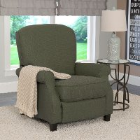 Green-Gray Linen Fabric Recliner - Noah