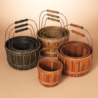 6 Inch Assorted Chipwood Bucket with Folding Wire Handle