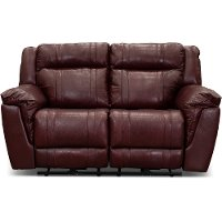 Chili Pepper Red Manual Reclining Loveseat - Trent