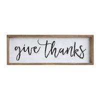 Give Thanks Wood Framed Wall Decor