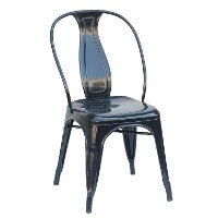 Black Metal Industrial Dining Room Chair (Set of 4) - Reservation Seating