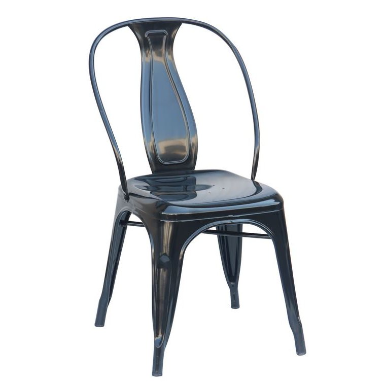 Set Of 4 Black Metal Dining Chairs Reservation Seating Rc Willey Furniture