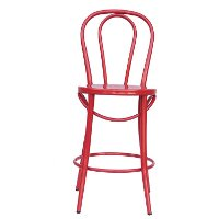 Red Indoor-Outdoor Bistro Counter Height Stool (Set of 2) - Reservation Seating