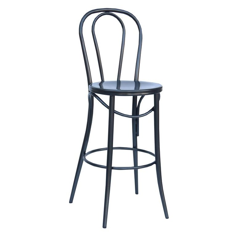 Charcoal Indoor Outdoor Metal Bistro Bar Stool Set Of 2 Reservation Seating Rc Willey Furniture