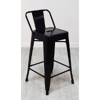Black Square Back Counter Height Stool (Set of 4)