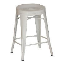 Contour White Counter Height Stools (Set of 4)