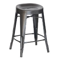 Charcoal Contour Counter Height Stools (Set of 4)