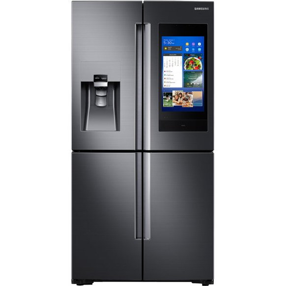 RF22N9781SG Samsung Counter Depth Family Hub Smart Refrigerator with Flex Zone - 22 cu. ft., 36 Inch Black Stainless Steel