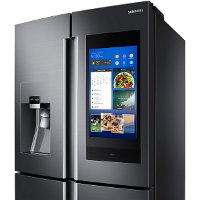 Samsung Counter Depth Family Hub Smart Refrigerator With