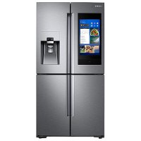 RF22N9781SR Samsung Counter Depth Family Hub Smart Refrigerator with Flex Zone - 22 cu. ft., 36 Inch Stainless Steel