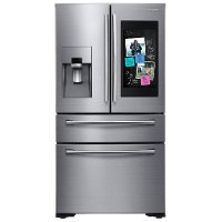 RF22NPEDBSR Samsung Counter Depth Family Hub Smart Refrigerator with 4 Doors - 21.9 cu. ft., 36 Inch Stainless Steel