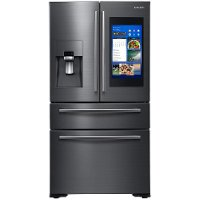 RF22NPEDBSG Samsung Counter Depth Family Hub Smart Refrigerator with 4 Doors - 21.9 cu. ft., 36 Inch Black Stainless Steel