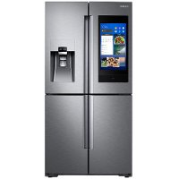 RF28N9780SR Samsung 4 Door French Door Smart Refrigerator with Family Hub and FlexZone - 27.9 cu. ft., 36 Inch Stainless Steel